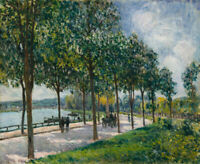 Allee Alfred Sisley Street Scene Art Landscape Giclee Print Reproduction CANVAS