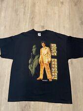 Gildan Elvis Presley T-shirt King of Rock & Roll Black Orange Size 2XL