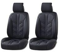 1+ 1 Lux Negro PU Cuero Funda de Asiento 2pc Set Amortiguador para Toyota