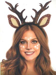 Fawn Ears Deer Antler Costume Headband Doe Bambi Reindeer Horn Leg Avenue A2825