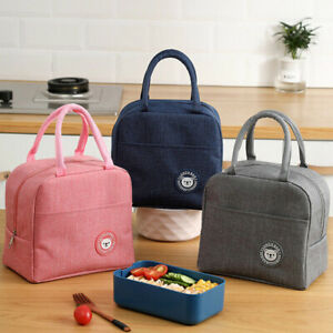 Portable Thermal Insulated Cooler Bento Lunch Bag Tote Family Travel Picnic