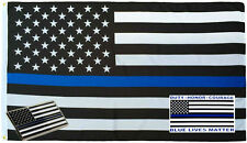 Wholesale 3x5 Police USA Memorial Flag Decal Sticker Memorial Lapel Pin Set 1