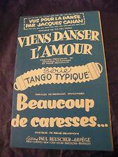 Partition Viens danser l'amour Denoncin Beaucoup de caresses 1957 Music Sheet