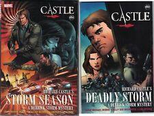 CASTLE STORM SEASON HC & DEADLY STORM TP TPB SET $34.98srp Bendis ABC-TV NEW