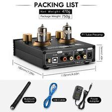 Nobsound HiFi Bluetooth 5.0 6J5 Valve Tube Preamp Bass Preamplifier Stereo Audio