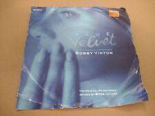 """BOBBY VINTON """" BLUE VELVET """" 7"""" SINGLE P/S 1990 EXCELLENT"""