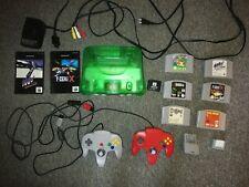N64 Konsole Jungle Green 6 Spiele + 2 Controller + Rumble + Expansion Pak Mario