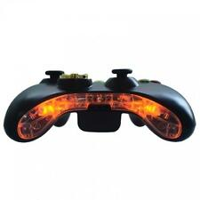 Custom xbox 360 pré-câblé led bottom bumper bar mic plaque insert mod kit orange