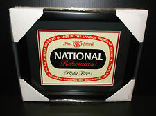 NATIONAL BOHEMIAN NATTY BOH FRAMED 8X10 CARDBOARD DISPLAY VINTAGE ORIGINAL SIGN