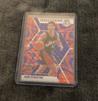 2019-20 Panini Prizm Mosaic John Stockton Blue Reactive Hall of Fame #293 SP