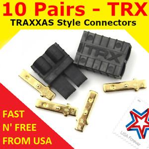 10 Pairs TRX TRAXXAS CONNECTOR PLUG LIPO NIMH E-REVO SLASH RALLY SUMMIT USA FAST