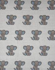 Baby Boys Cotton Blue Elephant Cot Pram Blanket Wrap Indus Design Gift Boxed