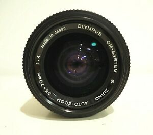 OLYMPUS OM SYSTEM ZUIKO AUTO S 35-70MM LENS 1:4 GREAT CONDITION H4
