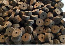 "Cork Rings Burnt Burl 1 1/4 X 1/2 X 1/4"" Inch Lot Of 4"