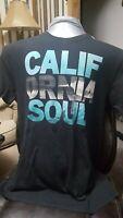Blue Old Navy California Soul Shop Large L T Shirt Mens Dark Surf Ocean Water