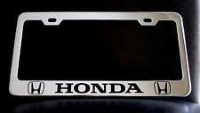 """HONDA"" License Plate Frame, Custom Made of Chrome"