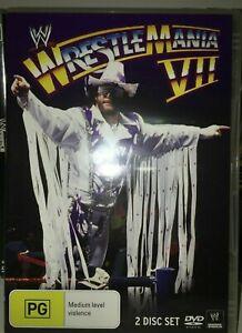 Wwe Wwf Wrestlemania 7 VII DVD (2 DISC SET) Very Rare