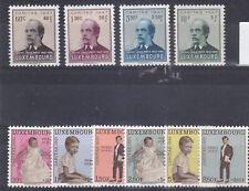 serie  luxemburg met plakker 2x caritas 1947 en1961