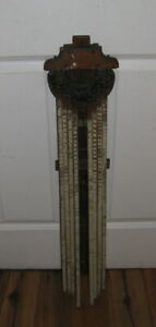 Antique AMERICAN Wood Clothes Dryer Wall Mount 8 Arm Drying Rack Primitive Rare