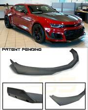 Front Lip For 19-Up Camaro LT LS RS SS | ZL1 1LE Style PRIMER BLACK Splitter New