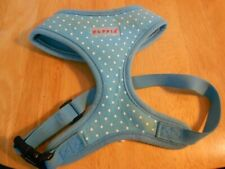 PUPPIA SOFT HARNESS MEDIUM TURQUOISE WITH SWISS DOTS WORN ONCE TOO SMALL FOR MY