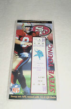 Nfl : Steve Young 49ers Large Commemorative Ticket Limited Edition New + Holder