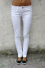 Meltin 'Pot Jeans Damen Faded White Denim Slim Skinny Fit w27 l32 uk10 gut!!!