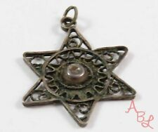 Sterling Silver Vintage 925 Star Of David Israel Pendant (1.1g) - 745418