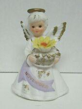 Lefton ~ Geo Z Lefton November Angel Girl Figurine dated 1988 Vguc