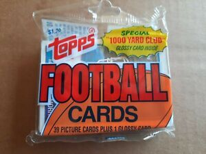 1988 TOPPS SUPER CELLO FOOTBALL PACK - 40 CARDS