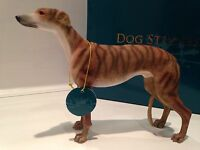 Brindle Greyhound Ornament Dog Gift Figure Figurine