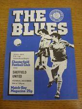 16/12/1980 Chesterfield V Sheffield United FA Cup REPLAY [] (molto leggera piega). TH