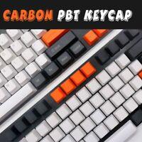 Keyboard Keycaps Blank Carbon Zealer Mechanical PBT Key Set For Cherry MX Switch
