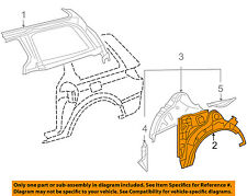 TOYOTA OEM 04-10 Sienna Side Panel-Outer Wheel well Left 61632AE900