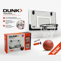 Mini Basketball Hoop With Ball 18 inch x12 inch Shatterproof Backboard H8I4