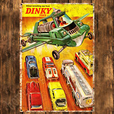 ALUMINIUM SIGN - 200MM X 285MM - DINKY TOYS - ALWAYS SOMETHING NEW - RUSTY LOOK