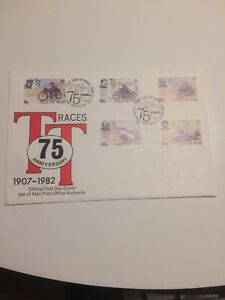 Isle of Man stamps 1982 FDC Anniversary of the TT Motorcycle Race (d)