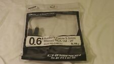 Key Digital 3.5mm to Stereo RCA Audio Cable - Black - 2' (KD-CSACST)