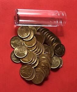 EGYPT-1984-UNCIRCULATED 1 PIASTRE ROLL (50 COINS )....GOOD OPPORTUNITY.