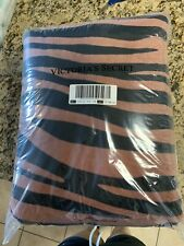 NEW VICTORIA'S SECRET PINK SHERPA BLANKET  SOLD OUT!  TIGER Zebra print