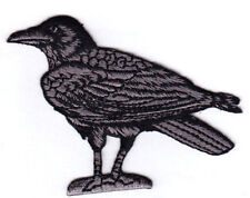 Raven Bird Crow Birds Facing Left Iron On  Embroidered Patch