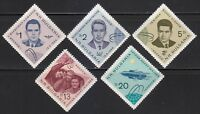 Bulgaria 1965 MNH Sc 1390-1394 Mi 1512-1516 Voskhod-1 3-man space flight ** USSR