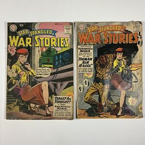 STAR SPANGLED WAR STORIES LOT #85 & #86 MADEMOISELLE MARIE COVERS 1959 DC Comics