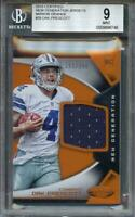 2016 certified new generation jerseys mirror orange #29 DAK PRESCOTT rc BGS 9