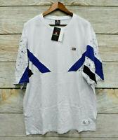 Southpole Shirt Big & Tall Mens 5XB White Black & Blue Skinny Fit T-Shirt New
