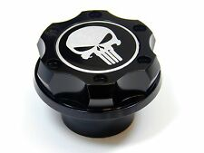 PUNISHER SKULL BILLET ENGINE OIL FILLER CAP FOR CHEVY LS1 LS2 LS3 LS6 BLACK