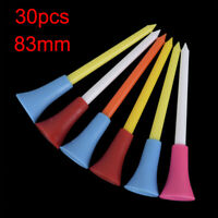 30PC Multi Color Plastic Golf Tees 83mm Durable Rubber Cushion Top Golf WDA