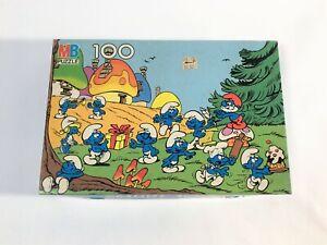 Vintage Jigsaw Puzzle Complete Smurfs Vintage Collectible Milton Bradley