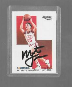 1992 Courtside - MONTY TOWE - Certified Autograph - NORTH CAROLINA STATE