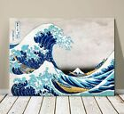 "Beautiful Japanese Sea Art ~ CANVAS PRINT 8x12"" ~Hokusai Great Wave Kanagawa #2"